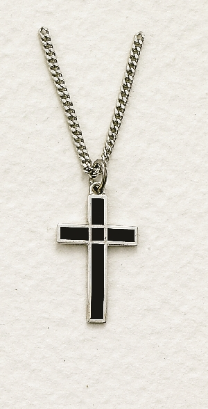 Boy's Sterling Silver Cross Necklace